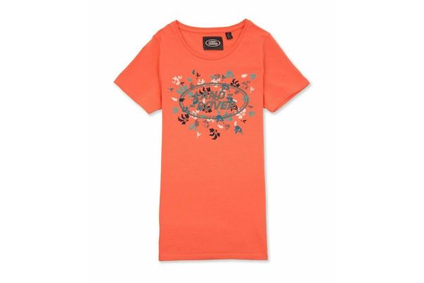 Land Rover Woman's Coral T-Shirt - Size 14